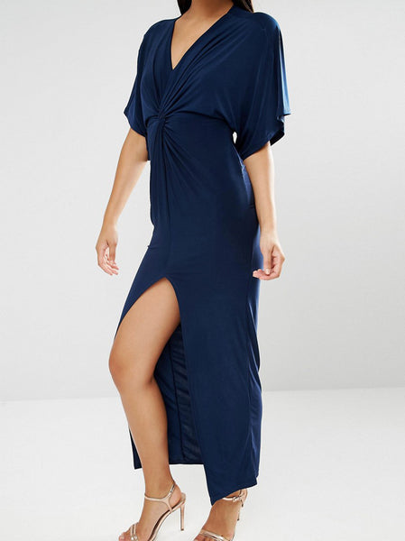 Maxi Dress With Knot Front