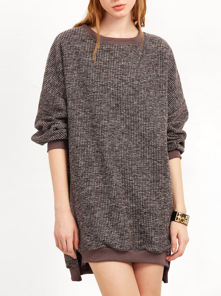 Split Sides Sweater Dress