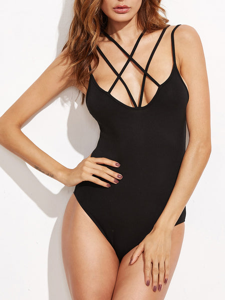 Crisscross Strappy Bodysuit