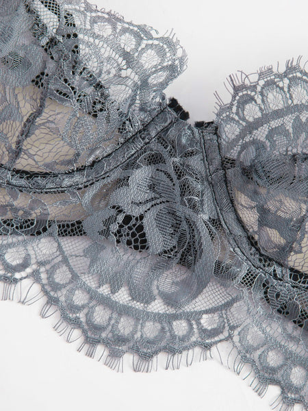 Underwired Lace & Mesh Bra