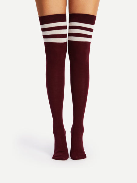 Striped Over The Knee Socks2