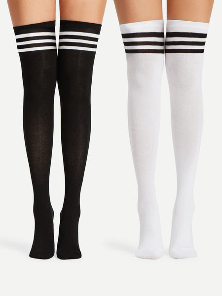 Varsity Over The Knee Socks