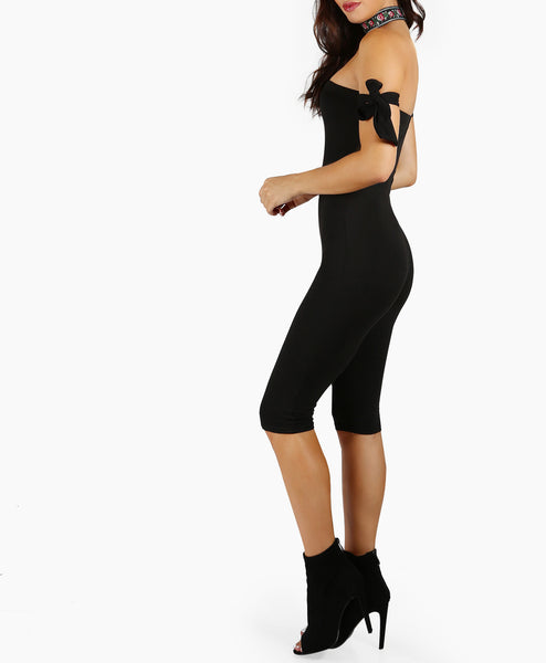 Off Shoulder Unitard Jumpsuit
