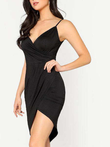 Criss Cross Back Wrap Dress