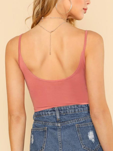 Gathered Front Crop Top