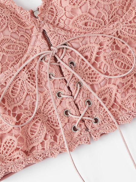 Eyelet Lace Up Bustier