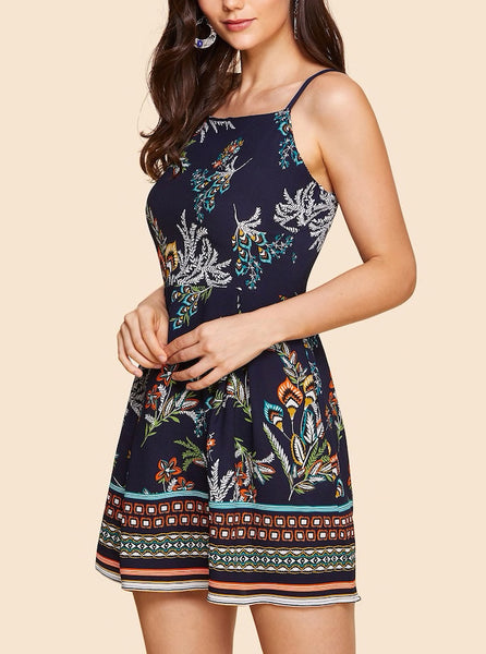 Floral Print Cami Mini Dress