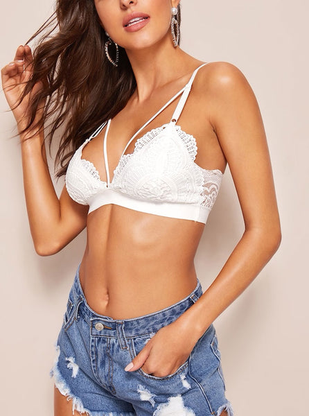 Scallop Trim Harness Bralette
