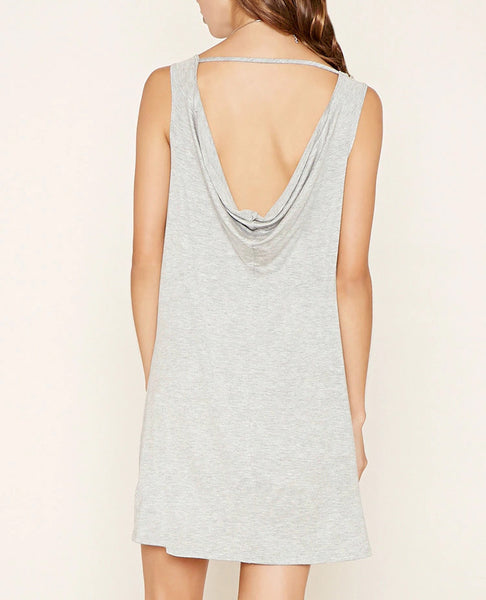 Droopy Back Mini Dress