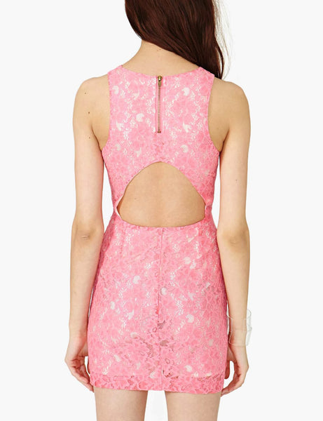 Lace Dress With Cutout Back