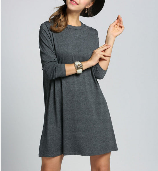 Cutout Back Mini Flare Dress