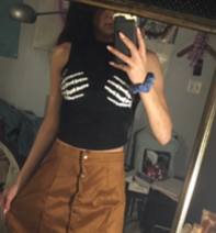 Skeleton Hands Sleeveless Top
