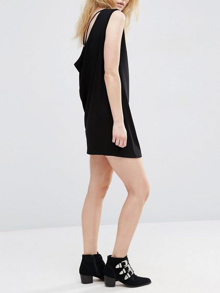 Cowl Back Sleeveless Dress