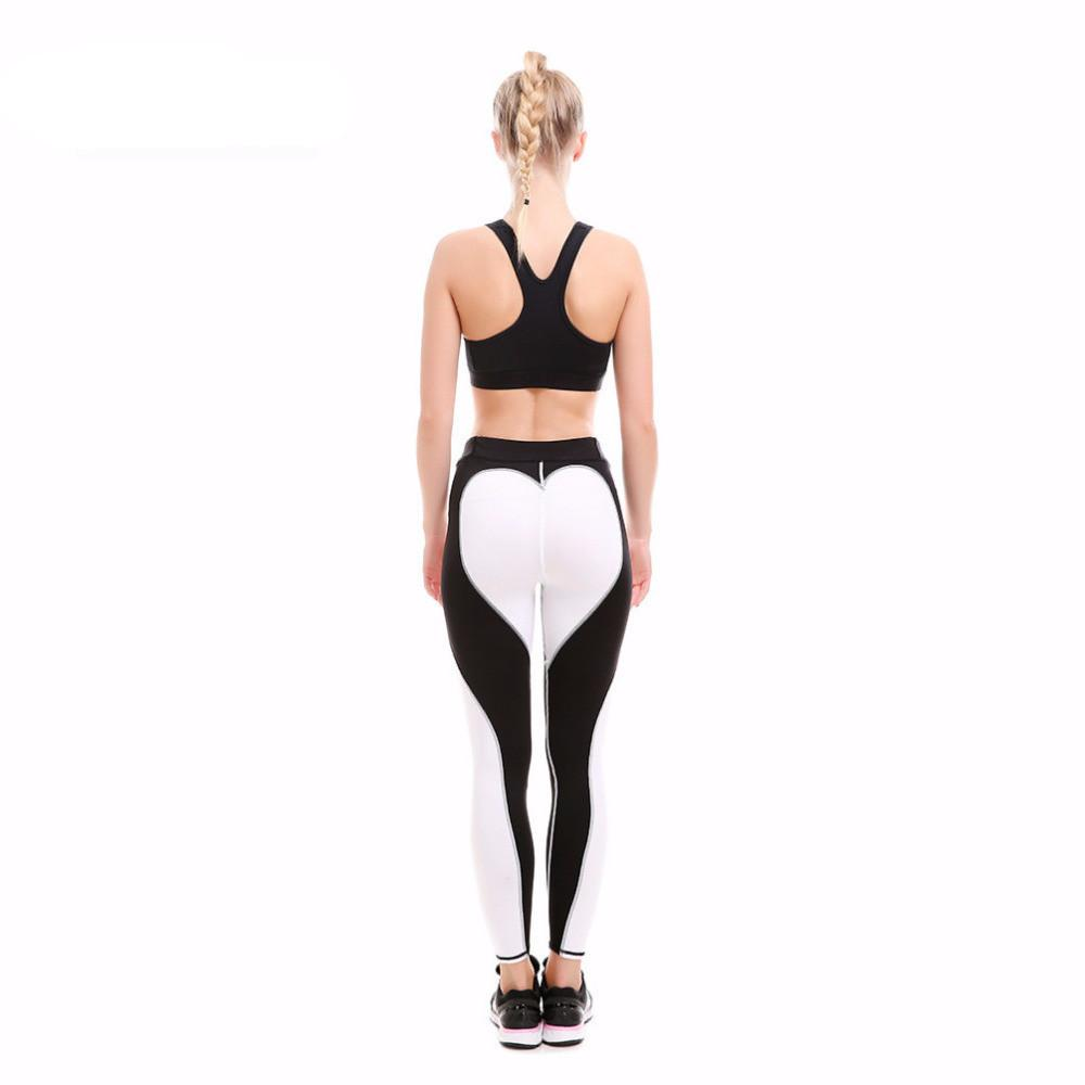 Black White Heart Leggings