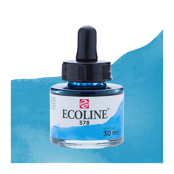 Encre aquarellable 30 mL / Bleu céleste cyan 578