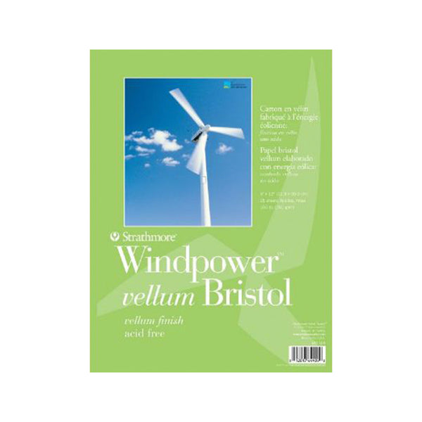 "Papier bristol 9 X 12"" / Collection Windpower (Éolienne) - Studio d'art Shuffle"