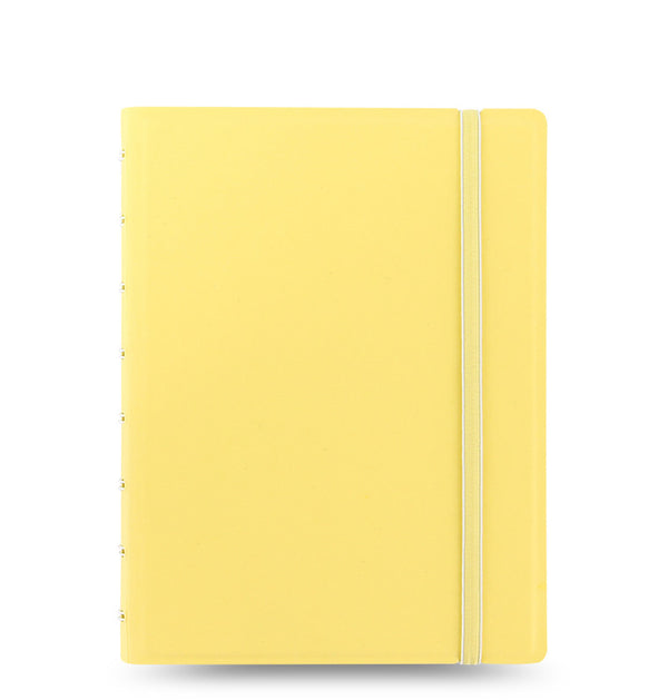 Cahier de notes rechargeable / Format A5 / Jaune pastel