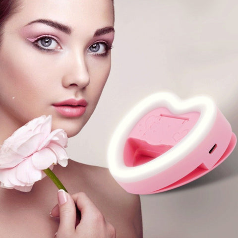 Selfie Heart Light Clip On