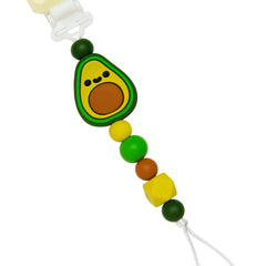Silicone baby pacifier clip no metal sterilizer safe.