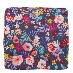 Muslin Swaddle - Dark Field Flowers