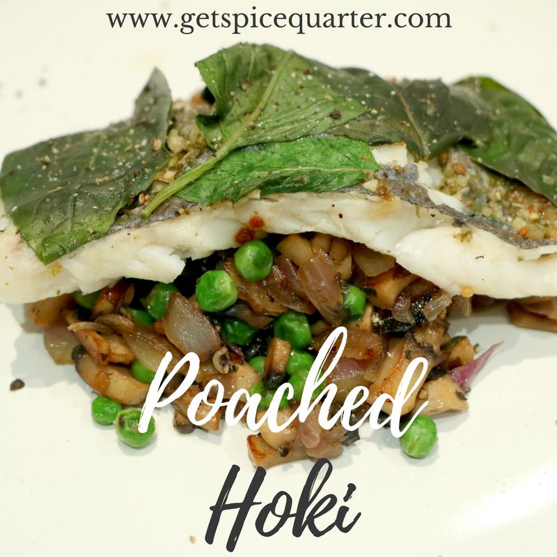 Spice Quarter Australia | Seafood Sensation Spice Blend | Poached Hoki with Sauteed Vegetables