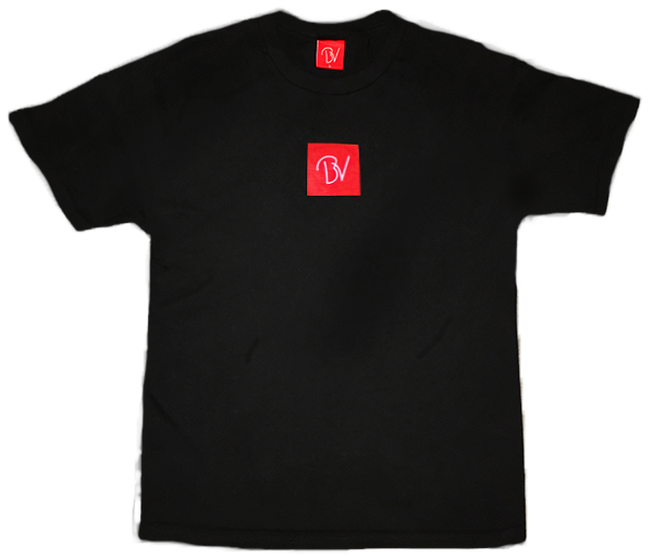 ButteryVibes Black Buttery Vibes Box Logo Tee