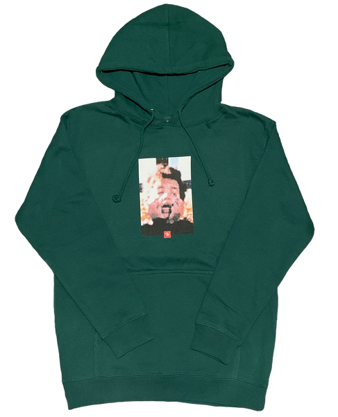 Buttery-Vibes-Afro-Kid-Hooded-Sweatshirt-Dark-Green