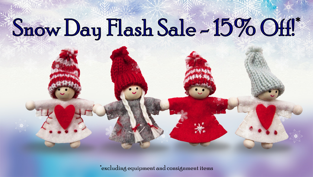 Snow Day Flash Sale - Today only, 12/9/16!