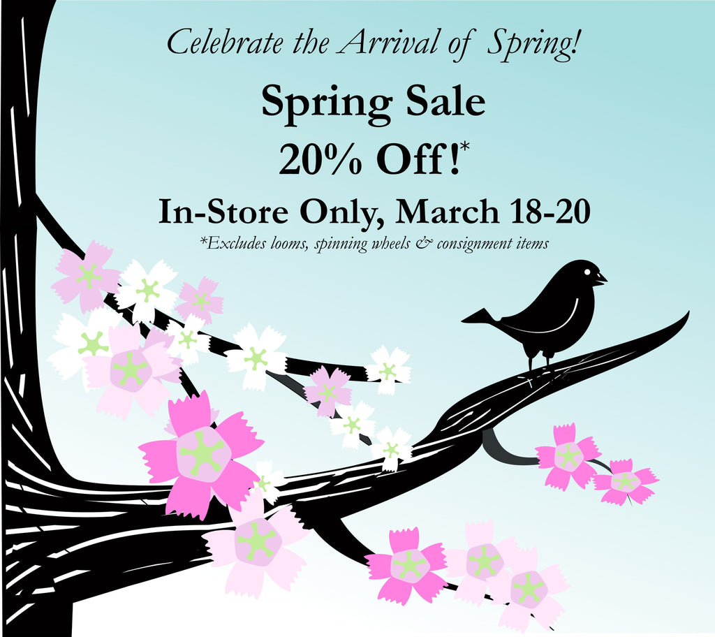 In-Store Only:  Spring Sale 20% Off!