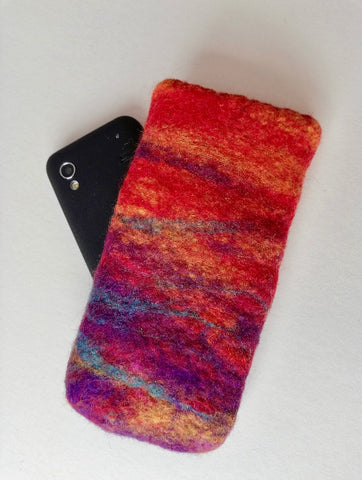 Wet Felted Pouch