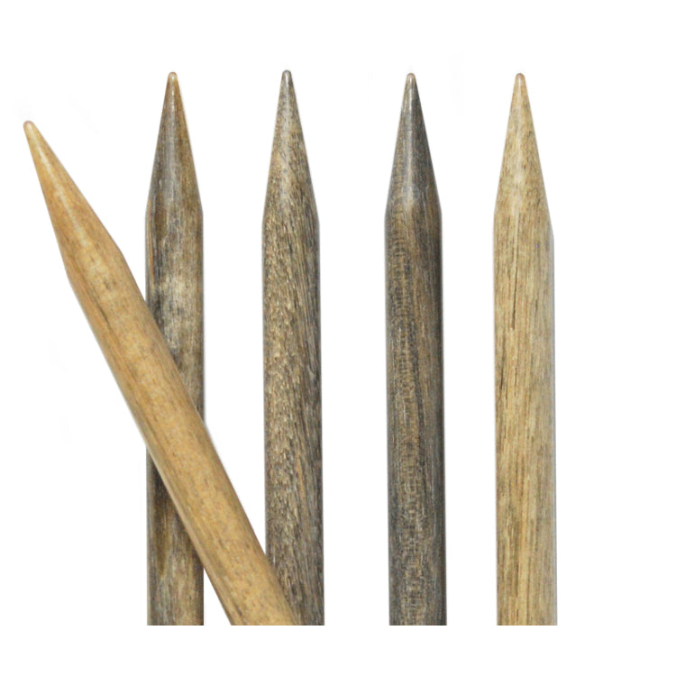 "Lykke 6"" Driftwood Double Point Needles"