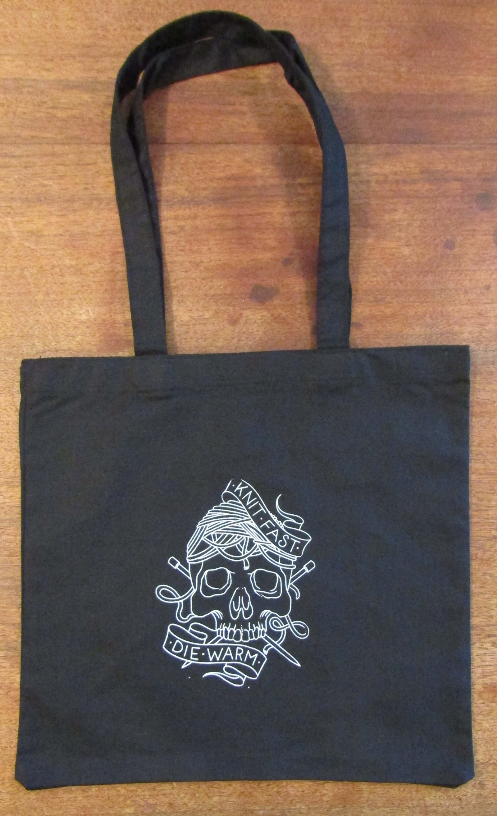 Silk-Screened Cotton Tote