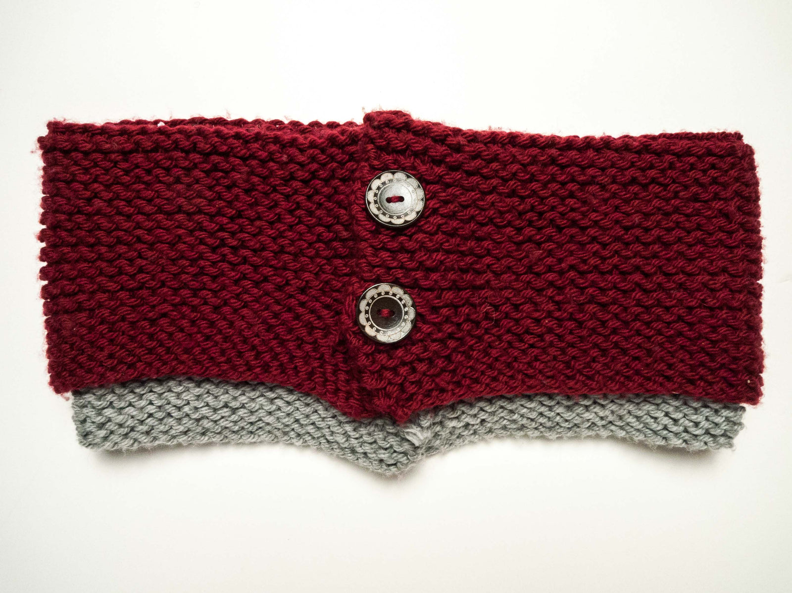Beginning Knitting Kit - Super Simple Two-Color Cowl