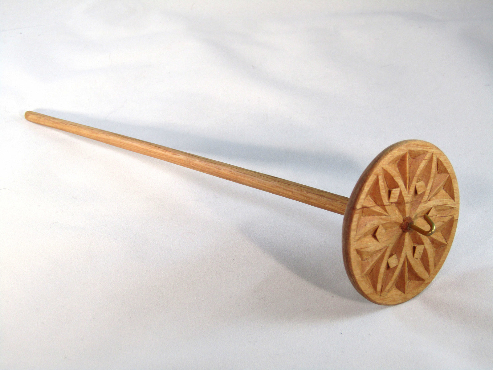 Top Whorl Drop Spindles by Allen Berry - Chip Carved