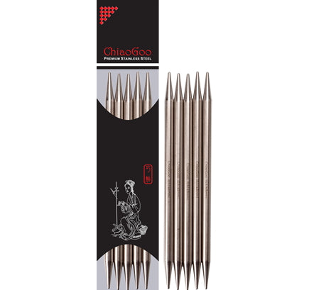 "ChiaoGoo 8"" Stainless Steel Double Point Needles"