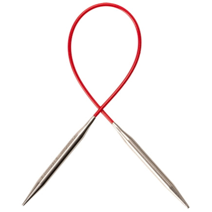 "ChiaoGoo 32"" RED Lace Stainless Steel Circular Knitting Needles"