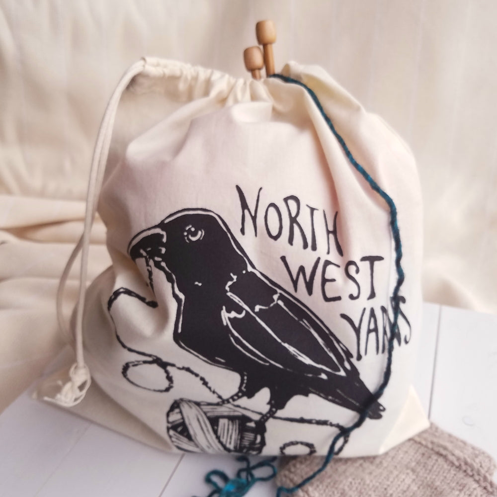 Northwest Yarns Silk-Screened Project Bag