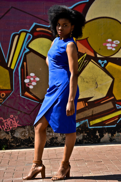 Tube dress with asymmetrical front slit - dresses south africa