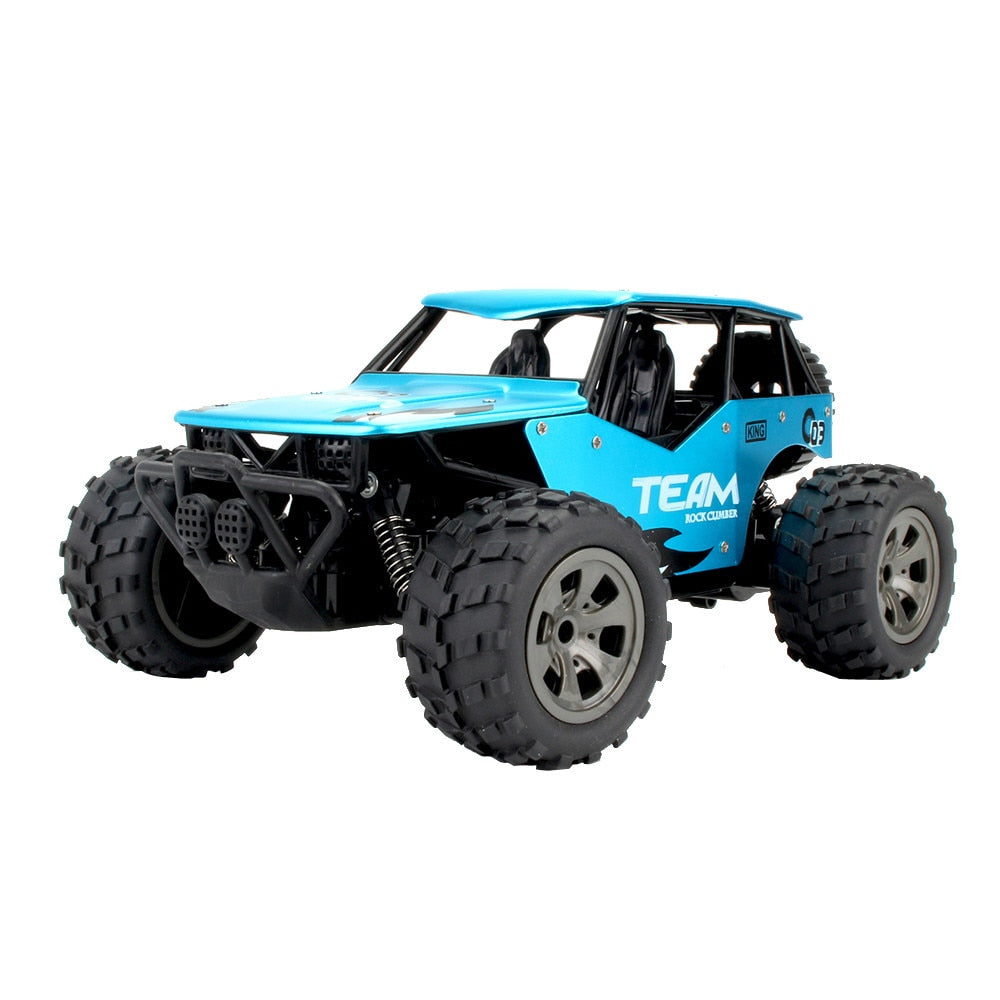 Costbuys  RC Car Radio Machine 2WD High Speed RC Racing Car Alloy CaseTruck Off-Road Buggy Remote Control Car Toys for Children