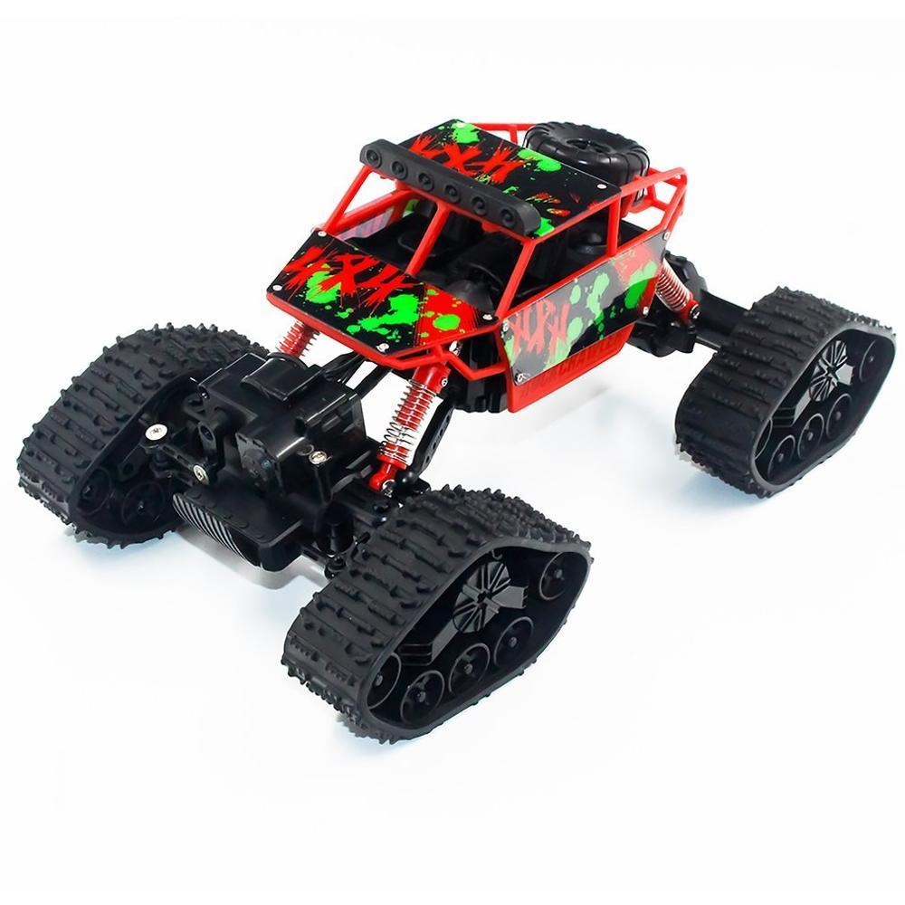Costbuys  Electric Four-wheel Drive Snowmobile Wheel Model Crawlers Off Road Vehicle Toy Remote Control Car - Red / China
