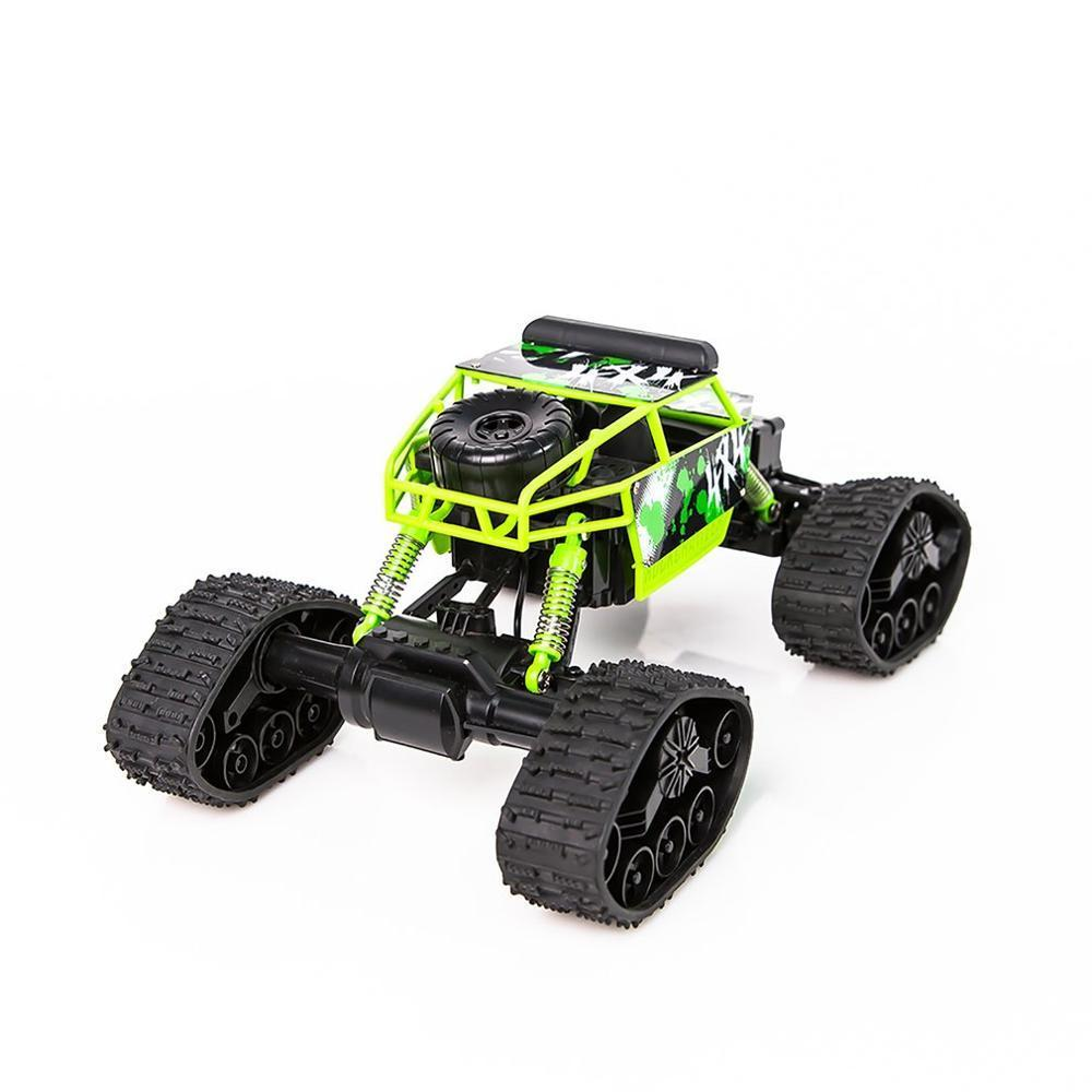Costbuys  Electric Four-wheel Drive Snowmobile Wheel Model Crawlers Off Road Vehicle Toy Remote Control Car - Green / China
