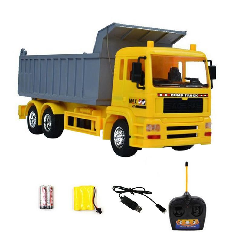 1:20 Original Rc Truck Ready To Go Excavator Toy Remote Control Engineering Dump Truck Model Vehicle Toys