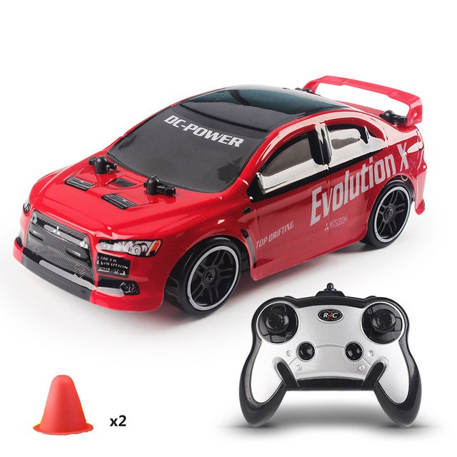 Costbuys  1:24 2.4G Drift Speed Wireless 4 Channel Remote Control Racing Car 30KM/H High Speed 4WD Drift Racing Car Truck Toy Gi