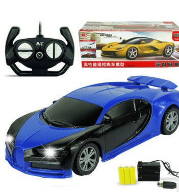 Costbuys  1:24 4CH RC Cars Collection Radio Controlled Cars Machines On The Remote Control Toys Kids 3-10 years - Bugatti Blue