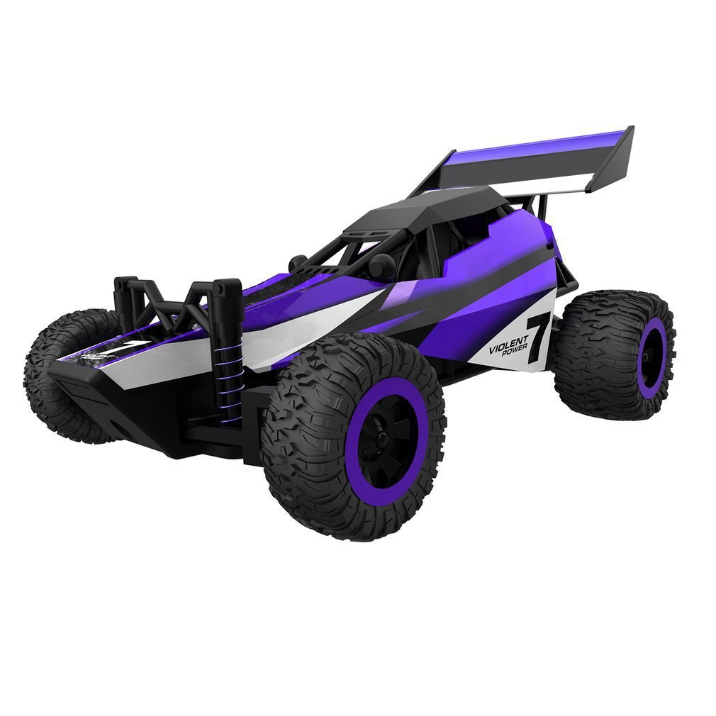 Costbuys  Full Scale RC Car Electric Buggy High Speed 20km/h Mini Car Remote Control 2WD RC Model Car Toys for Kids - Purple
