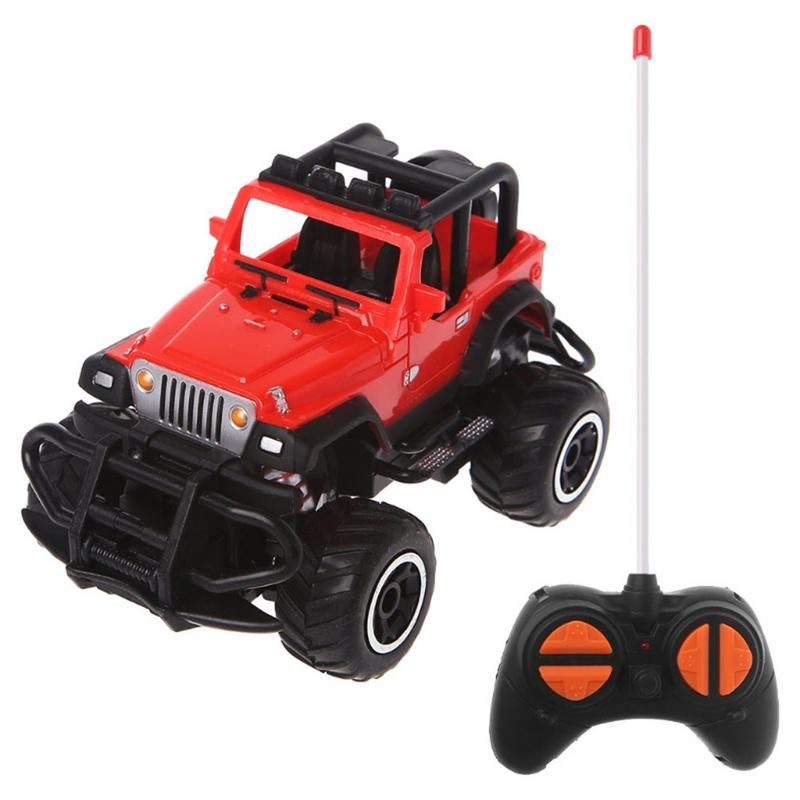 Costbuys  1:43 Mini Remote Control Car Off-road 4 Channel Electric Model Toy Remote Control Toy Children Gift Toy - D