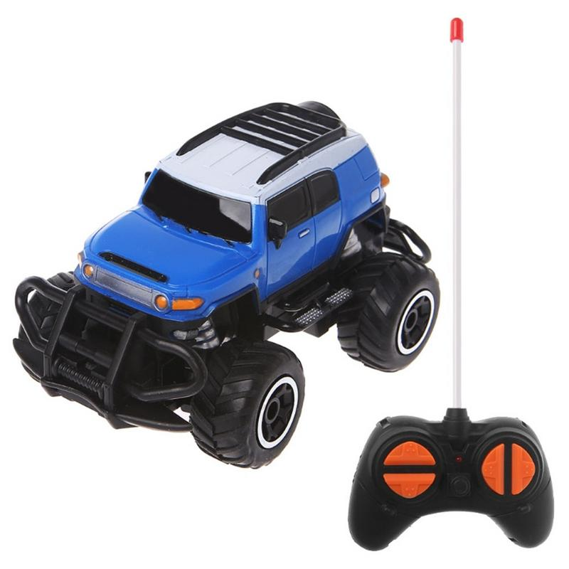 Costbuys  1:43 Mini Remote Control Car Off-road 4 Channel Electric Model Toy Remote Control Toy Children Gift Toy - C