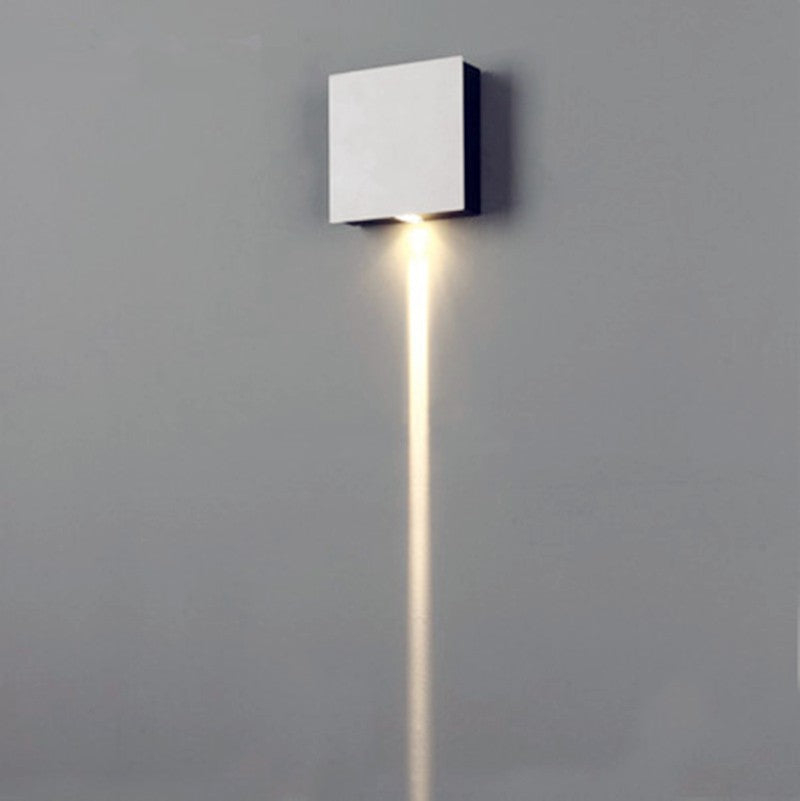 1 Narrow Beam Led Wall Sconce Effect Light Rectangle 140*140*45mm ...
