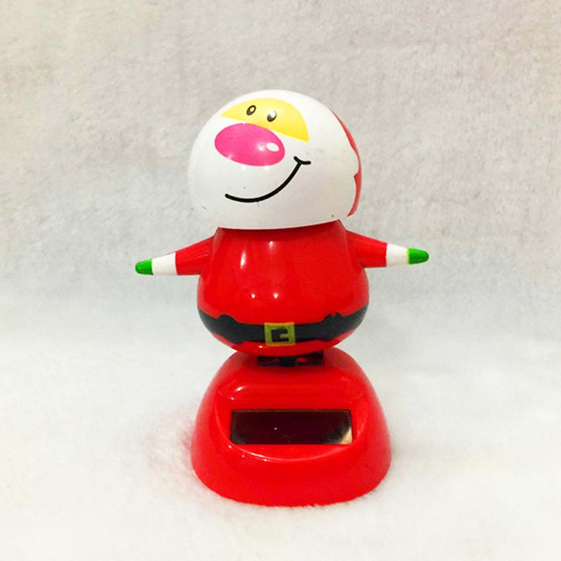 Costbuys  1 PCS Christmas Snowman Solar Powered Dancing Toy Car Table Decor Ornaments Gift Xmas Decoration - S4