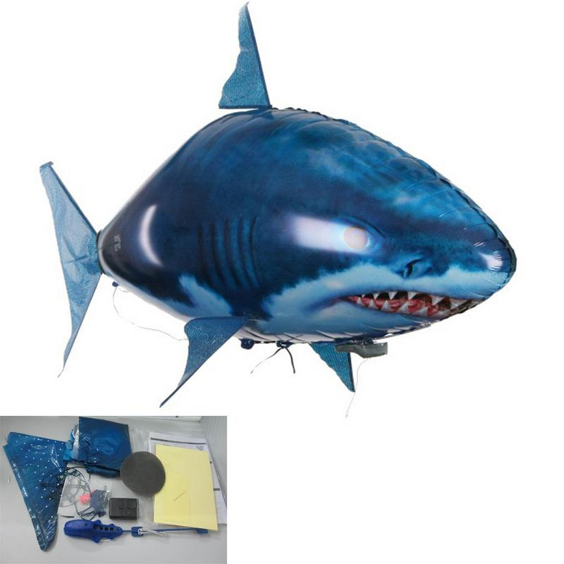 Costbuys  1 PCS Remote Control Shark Toys Air Swimming Fish Infrared RC Flying Air Balloons Clown Fish Kids Toys Gifts Party Dec